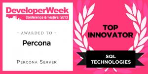 Percona Server Wins Developer Week 2013 Award, Named Top Innovator in SQL Technologies Category