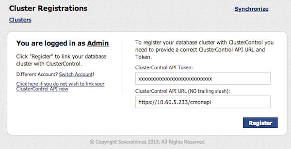 ClusterControl API