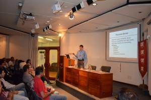 Peter Zaitsev at last year's Percona University event in Montevideo