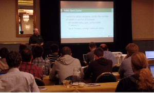Percona's Bill Karwin leads a tutorial on MySQL tuning at Percona Live London 2014