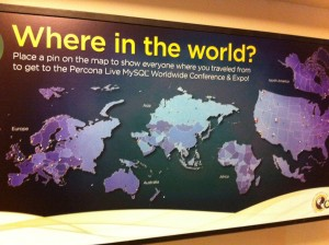 Percona Live 2014 world map