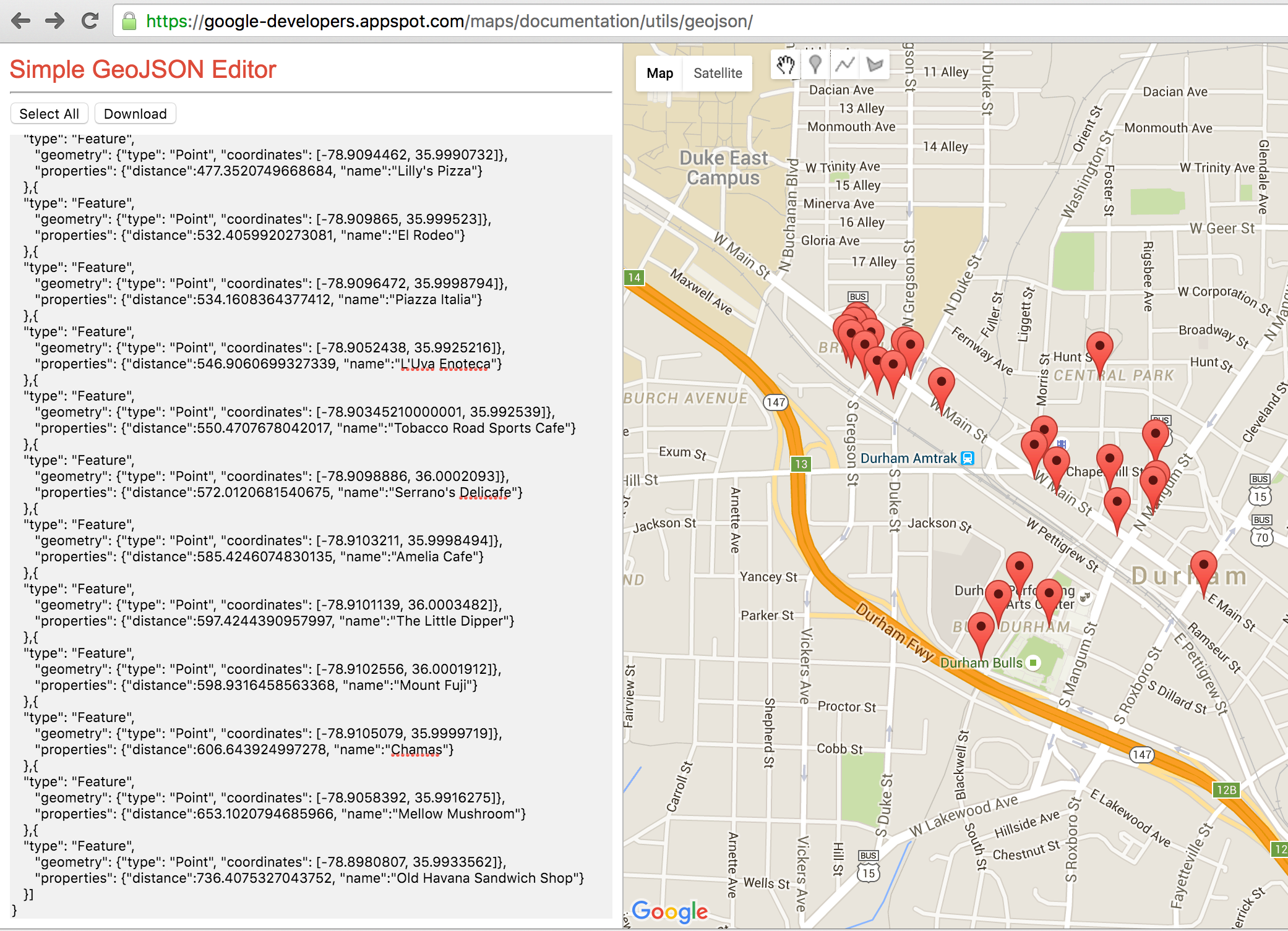 Creating Geo-Enabled applications with MongoDB, GeoJSON and