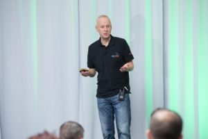 "Geir Høydalsvik, Development Director for MySQL at Oracle, delivers his keynote ""State of the Dolphin"""