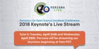 Percona Live 2018 Live Stream
