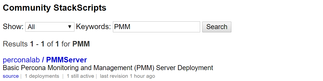 Choose PMMServer from PerconaLab