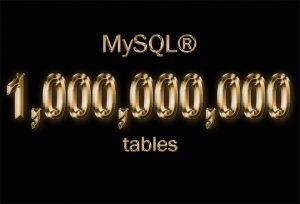 one billion tables MySQL