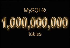 one billion tables MySQL
