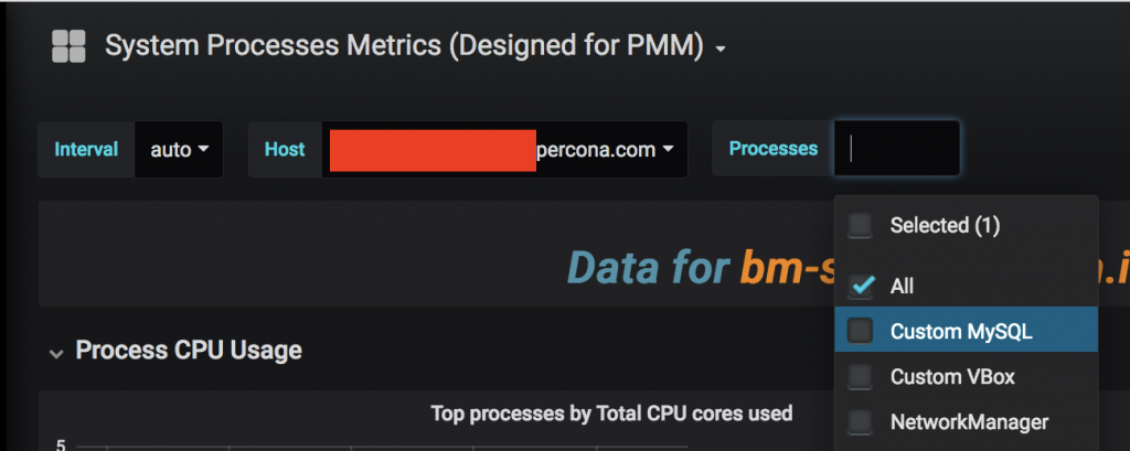 A new list of processes in PMM after filtering