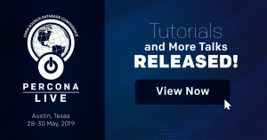 percona-live-2019-austin-tutorials-talks