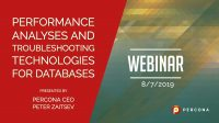 webinar Performance Analyses and Troubleshooting Technologies
