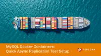 MySQL Docker Containers Async