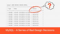 Bad Design MySQL