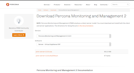 download percona monitoring and management