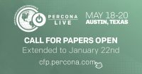 Percona Live 2020 Call for Papers extension