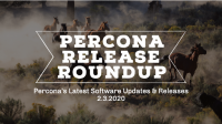 Percona Software Updates and Releases