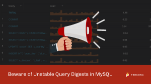 Unstable Query Digests in MySQL