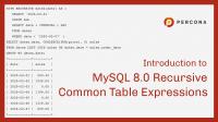 MySQL 8.0 Recursive Common Table Expression