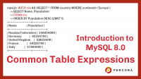 MySQL Common Table Expressions