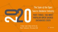 State of the Open Source Database Industry