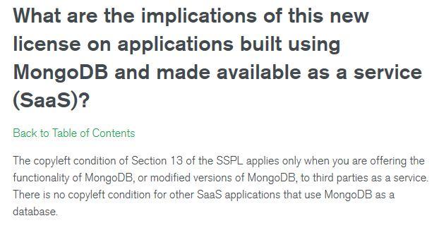 MongoDB SSPL