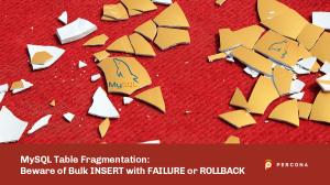 MySQL Table Fragmentation Insert