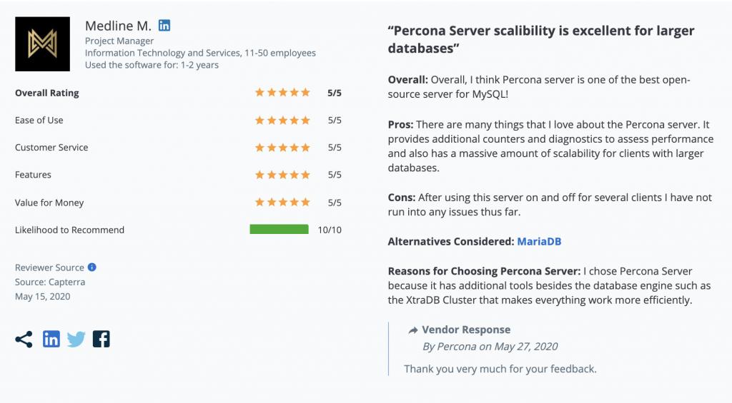 Percona Server for MySQL Review