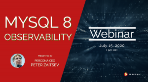 MySQL 8 Observability