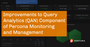 improvements to qan percona monitoring and management
