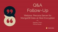 Percona Server for MongoDB Data-at-Rest Encryption