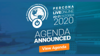 agenda percona live online