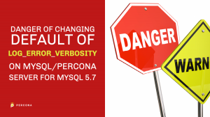 Changing Default of log_error_verbosity mysql