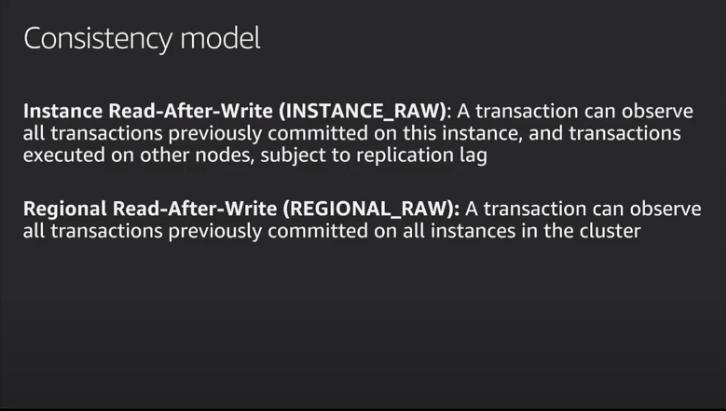 Aurora consistency model