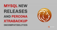 MySQL Percona Backup Incompatibilities