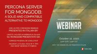 Percona Server MongoDB Italian Webinar