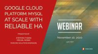 webinar Percona Google Cloud Platform