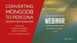 Converting MongoDB to Percona Server for MongoDB