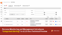 Intergrated Alerting Percona Monitoring and Management