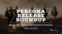 Percona Release Roundup March 15