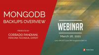 Webinar MongoDB Backups Overview
