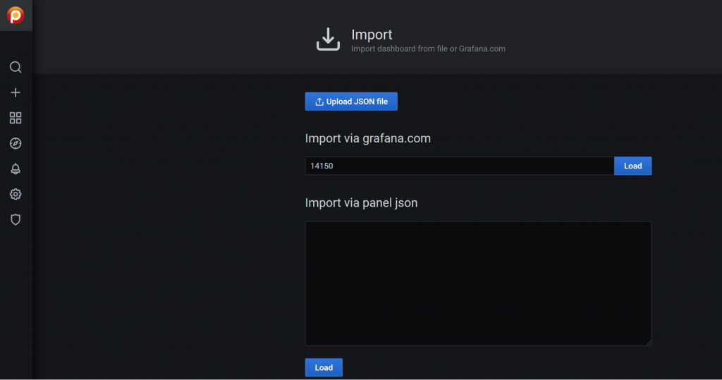 import dashboard percona monitoring and management