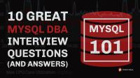 MySQL DBA Interview Questions