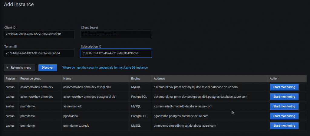 Microsoft Azure MySQL or PostgreSQL