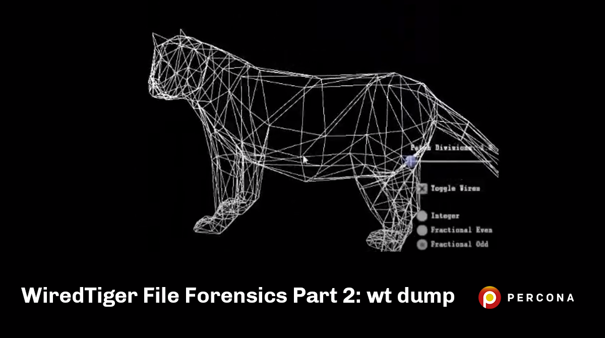 WiredTiger File Forensics Part 2: wt dump