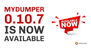 MyDumper 0.10.7 is Now Available