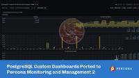 Custom Dashboards for PostgreSQL