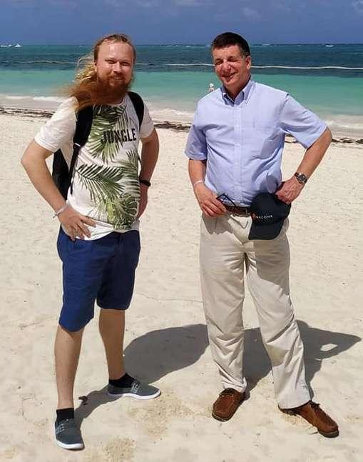 Tom & Daniil on the beach in Punta Cana, 2020