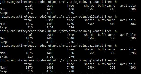 Available Memory PostgreSQL