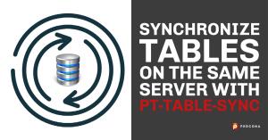 Synchronize Tables on the Same MySQL Server