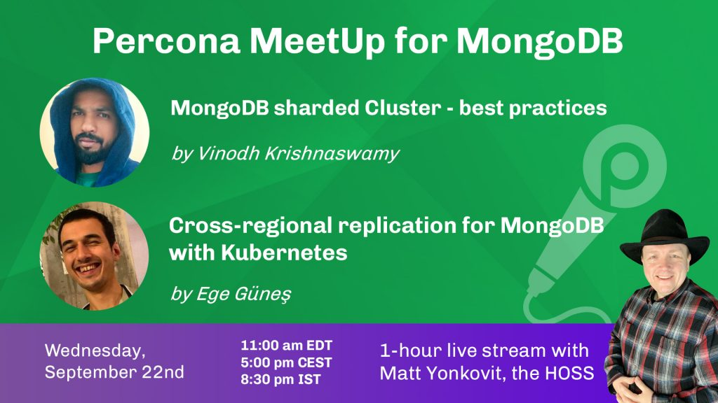 Community MeetUp for MongoDB, Sept 22nd, 2021