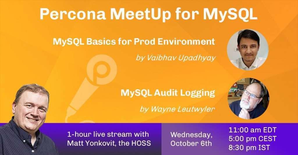 Community MeetUp for MySQL